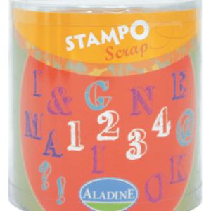 Stampo scrap - abeceda a číslice - 54 ks - MVhracky.cz