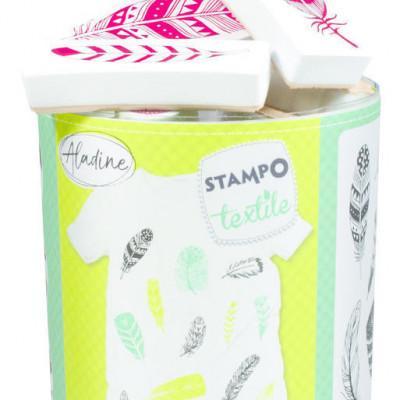 Stampo textil - Peříčka - 13 ks - MVhracky.cz