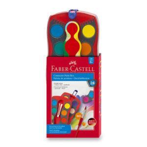 Vodové barvy Faber-Castell Connector - 24 barev - MVhracky.cz