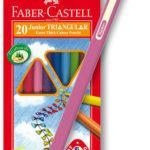 Pastelky Faber-Castel Junior Triangular - 20 barev + ořezávátko - MVhracky.cz
