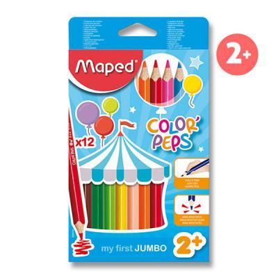 Pastelky Maped Color´Peps Jumbo - 12 barev - MVhracky.cz