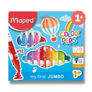 Dětské fixy Maped Color´Peps Jumbo - 12 barev - MVhracky.cz