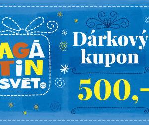 Agátin dárkový kupón: 500 Kč - MVhracky.cz