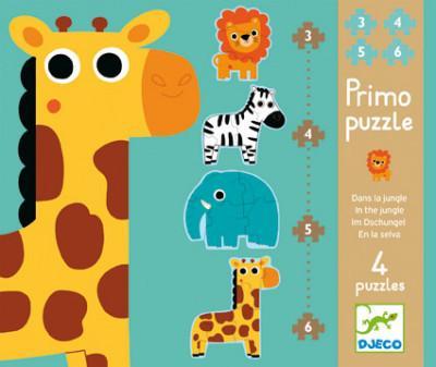 Sada 4 puzzle - Žirafa a spol. - MVhracky.cz