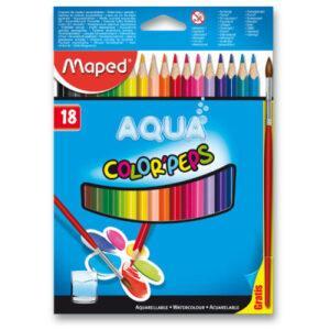 Akvarelové pastelky Maped - 18 barev + štětec - MVhracky.cz