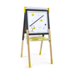 Magnetická oboustranná a polohovatelná tabule - žlutá a šedá - MVhracky.cz