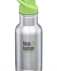 Dětská nerezová termolahev Klean Kanteen Insulated Kid Classic w/Kid Sport Cap 3.0 - brush stainless 355 ml - MVhracky.cz
