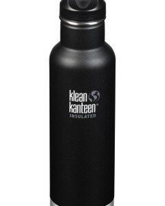 Nerezová termolahev Klean Kanteen Insulated Classic w/Loop Cap - shale black 592 ml - MVhracky.cz