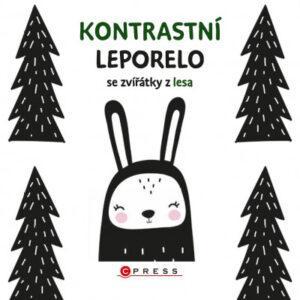 Kontrastní leporelo se zvířátky z lesa - MVhracky.cz