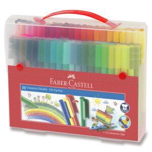Dětské fixy Faber-Castell Connector taška - 80 barev - MVhracky.cz