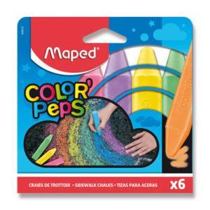 Křídy na chodník Maped - 6 barev - MVhracky.cz