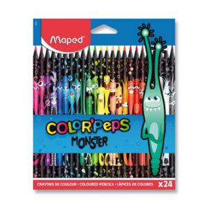 Pastelky Maped Color'Peps Monster - 24 barev - MVhracky.cz