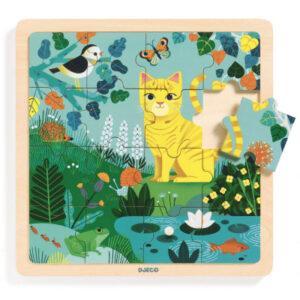 Dřevěné puzzle - kočička Lily - 16 ks - MVhracky.cz