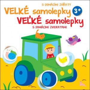 Velké samolepky s domácími zvířaty - Traktor - MVhracky.cz