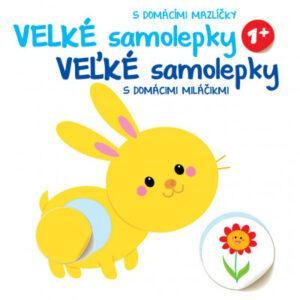 Velké samolepky s domácími mazlíčky - Králík - MVhracky.cz