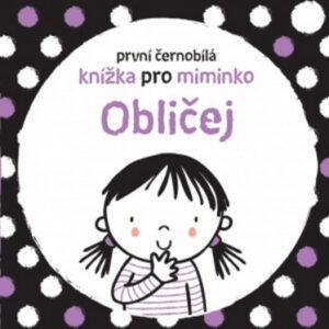 První černobílá knížka pro miminko - Obličej - MVhracky.cz